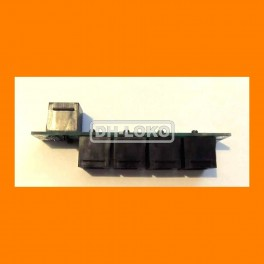 RJ12 HUB 6P6C 0/5/0